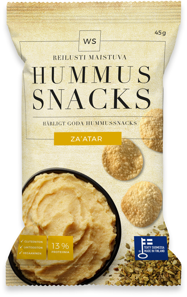 Za'atar spiced hummus snacks