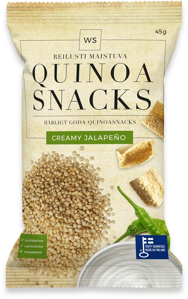 WS Quinoa Snacks with Creamy Jalapeño flavour!