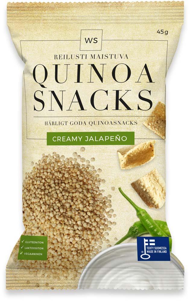 WS Quinoa Snackswith Creamy Jalapeño flavour!
